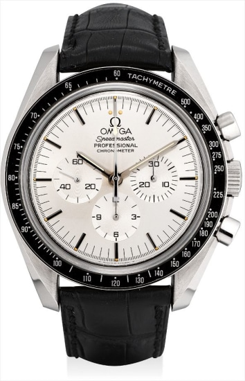 A fine and rare white gold limited edition chronograph wristwatch, made to commemorate the 25th Anniversary of Apollo XI