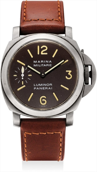 A fine and rare titanium limited edition cushion-shaped wristwatch