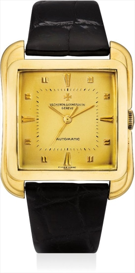 A fine and rare yellow gold oversized wristwatch with sweep centre seconds and fitted presentation box