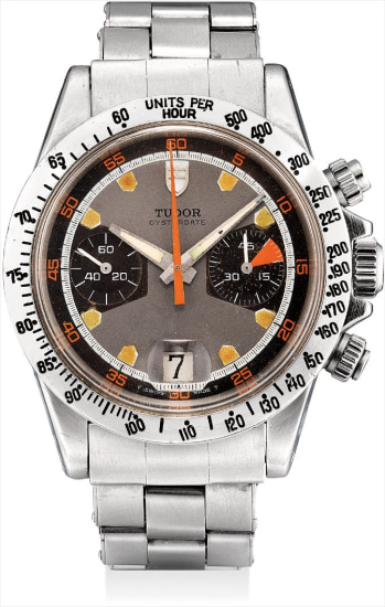 A rare stainless steel chronograph wristwatch with date and bracelet