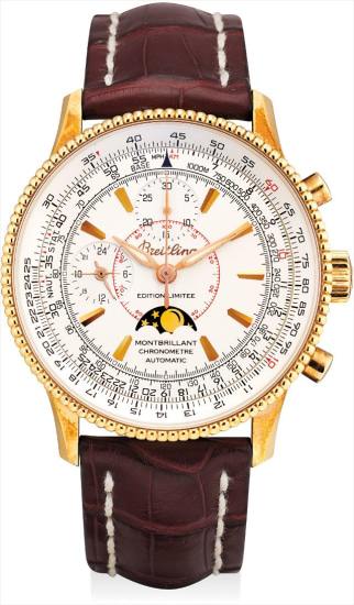 A pink gold limited edition chronograph wristwatch with moon phases and 24 hours, made for the Japanese market