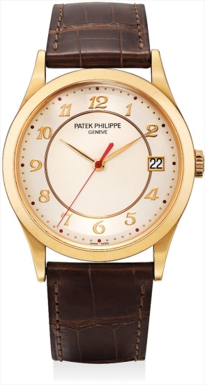 A fine and rare pink gold limited edition wristwatch with sweep centre seconds, date and original certificate, made to commemorate the opening of the Patek Philippe boutique in Pisa Orologeria in Milan in 2008