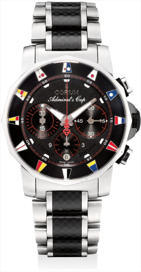 A stainless steel and graphite limited edition chronograph wristwatch with date and bracelet