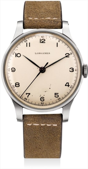 A rare and large stainless steel wristwatch with sweep centre seconds