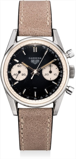 A rare stainless steel chronograph wristwatch