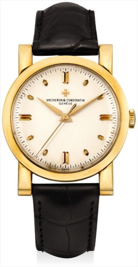 A rare yellow gold chronometer wristwatch with sweep centre seconds