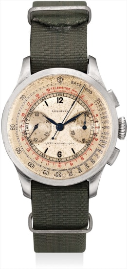 A very rare stainless steel chronograph wristwatch