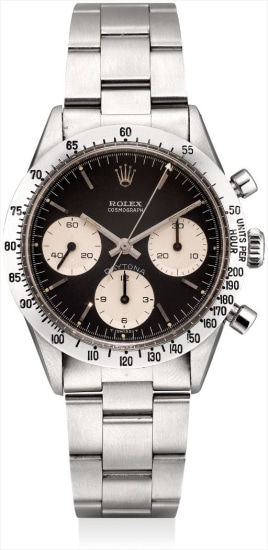 A fine and rare stainless steel chronograph wristwatch with bracelet