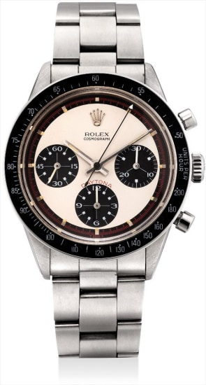 A fine and very rare stainless steel chronograph wristwatch with bracelet