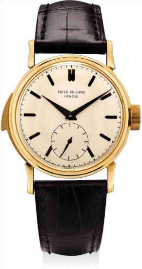 A historically important and unique yellow gold minute repeating wristwatch with oversized subsidiary seconds, repeating trigger and crown, blackened hands and numerals and Cartier certificate, retailed by Cartier
