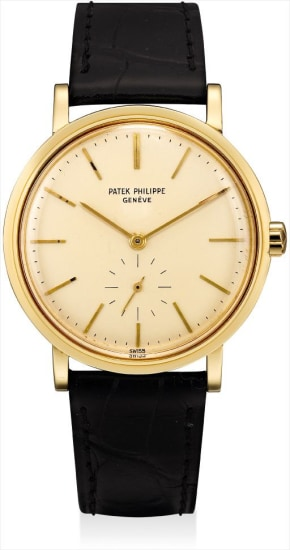 A fine yellow gold wristwatch