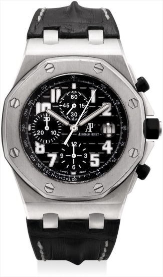 A stainless steel chronograph wristwatch the date