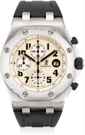 A stainless steel chronograph wristwatch with date