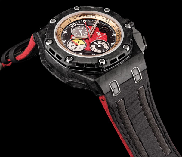 A fine and rare titanium, forged carbon and ceramic limited edition chronograph wristwatch with date