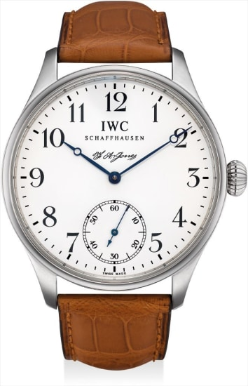 A stainless steel limited edition wristwatch, made in tribute to IWC founder Florentine Ariosto Jones