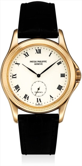 A fine and rare pink gold wristwatch with enamel dial, retailed by Tiffany  & Co.