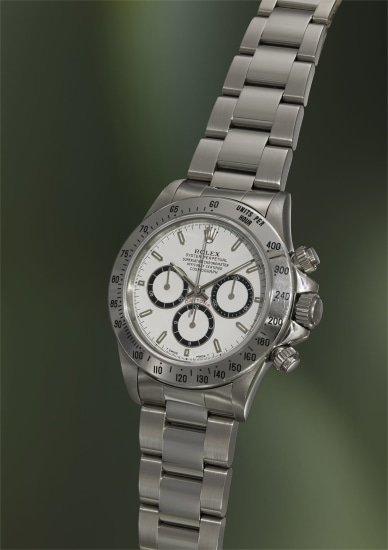 An attractive stainless steel chronograph wristwatch with guarantee, letter and presentation box, awarded to the winner of '1995 Rolex 24 at Daytona'
