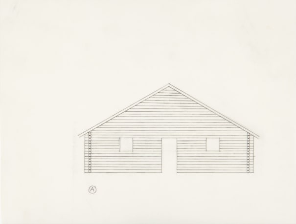 Untitled (Preparatory Drawing for Log Cabin)