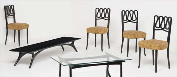 Magnificent Gio Ponti Set Of Four Dining Chairs Ca 1950 Phillips Ocoug Best Dining Table And Chair Ideas Images Ocougorg