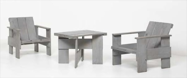 Pleasant Gerrit Thomas Rietveld Pair Of Crate Chairs And Crate Download Free Architecture Designs Scobabritishbridgeorg