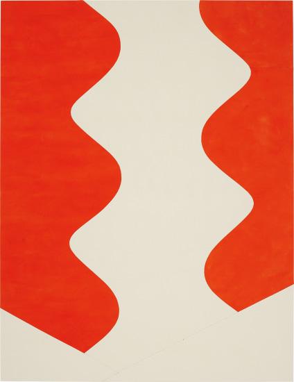 Sarah Crowner - The Wave (Electric Orange), 2014 | Phillips