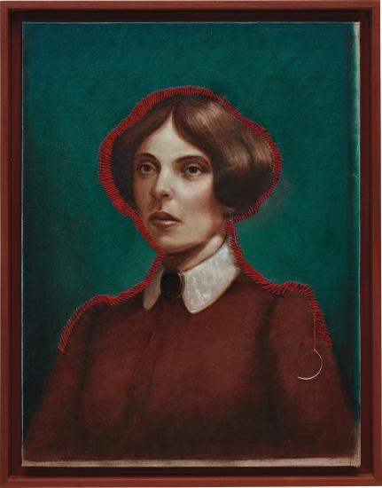 Untitled (red thread lady)