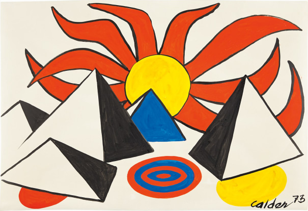 Composition (Pyramids and Sun on Target)