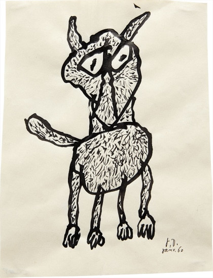 Jean Dubuffet - Chien, 1960 | Phillips