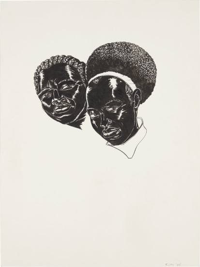 Drawing (Two Heads) (Study for Vignette)