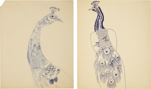 Two works: (i) Peacock; (ii) Peacock