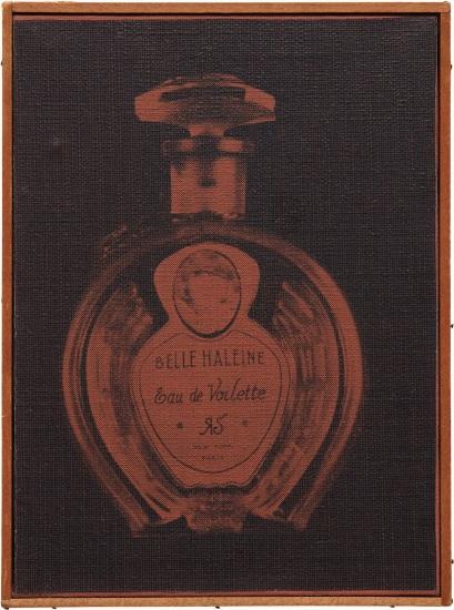 """Marcel Duchamp, """"Belle Haleine: Eau de Voilette"""", 1921 (violet)"""