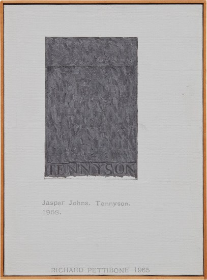 """Jasper Johns, """"Tennyson"""""""