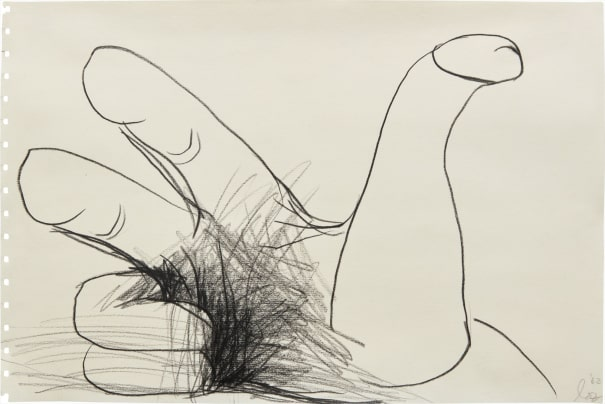 Untitled (Penis Thumb, Splayed Hand, Hairy Palm)