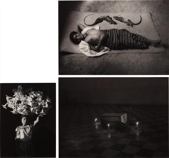 Three Works: i) Regreso a la tierra (Solola, Guatemala) ii) Canasta de luz (Sumpango, Guatemala) iii) Mujer que sueña (Pinotepa Nacional, Mexico)