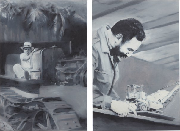 Two works: i) Untitled ii) Fidel with truck
