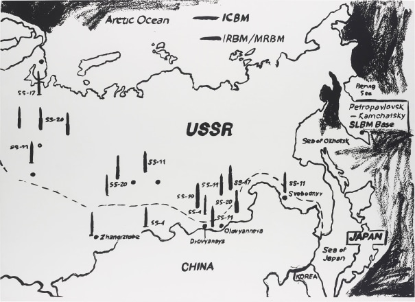 dance diagram andy warhol andy warhol map of the eastern u s s r missile bases  1985 86  andy warhol map of the eastern u s s