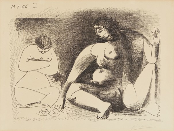 Pablo Picasso - Deux femmes accroupies (Two Seated Women