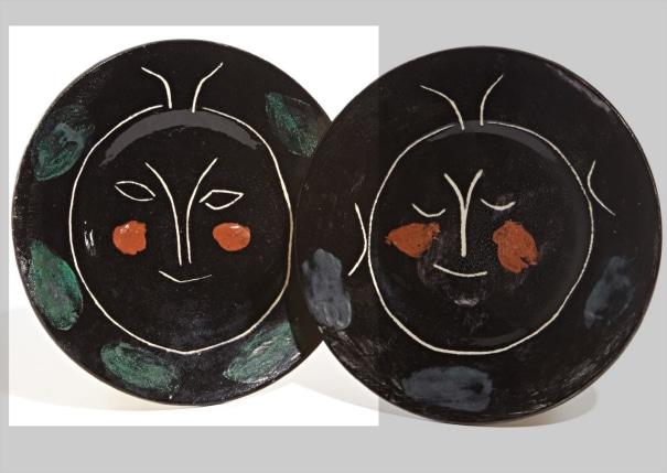 845c8c520f4 of 347 lots. Service visage noir (Black Face Service)  plate J