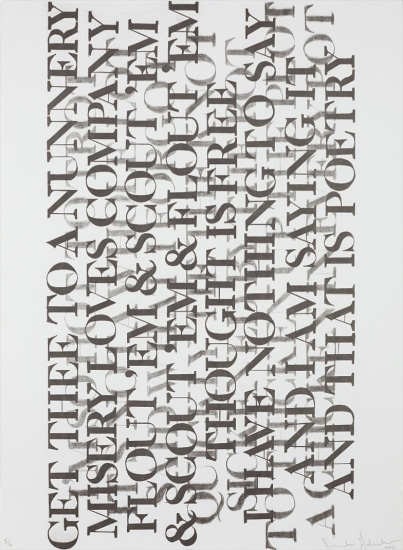 Kenneth Goldsmith Untitled From Selections From 73 Poems