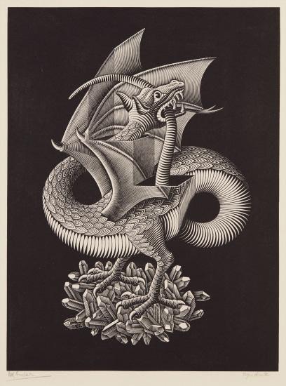 Mc Escher Dragon 1952 Phillips
