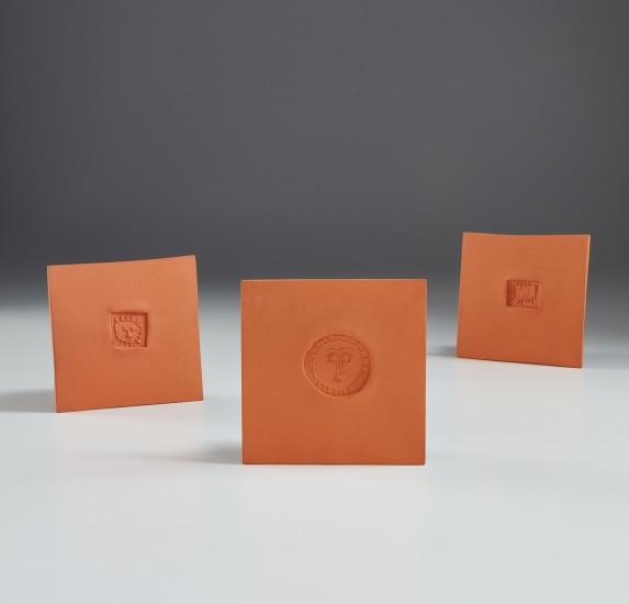 Little square with sun (Petit carré au soleil); Circle with face (Cercle au visage); and Little square with face (Petit carré au visage)