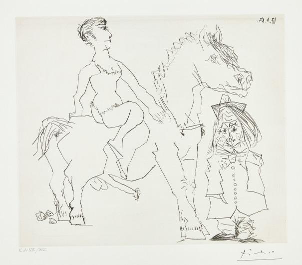 Femme à cheval (Woman on Horseback)