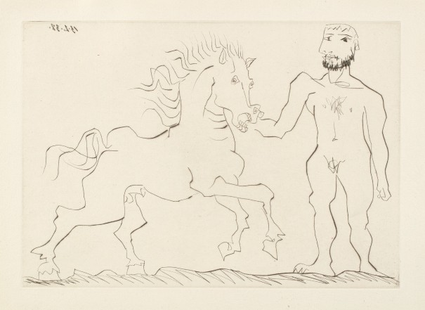 Nu debout et cheval (Standing Nude and Horse)