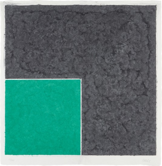 Colored Paper Image XVII (Green Square with Dark Grey), from Colored Paper Images