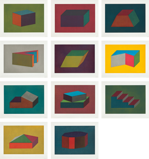 Forms Derived from a Cubic Rectangle: eleven plates