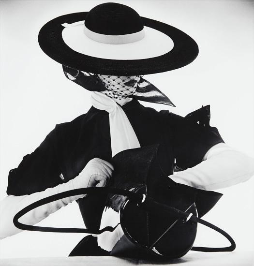 175f133c69c0 Irving Penn - Black and White Fashion with Handbag (Jean Patchett ...