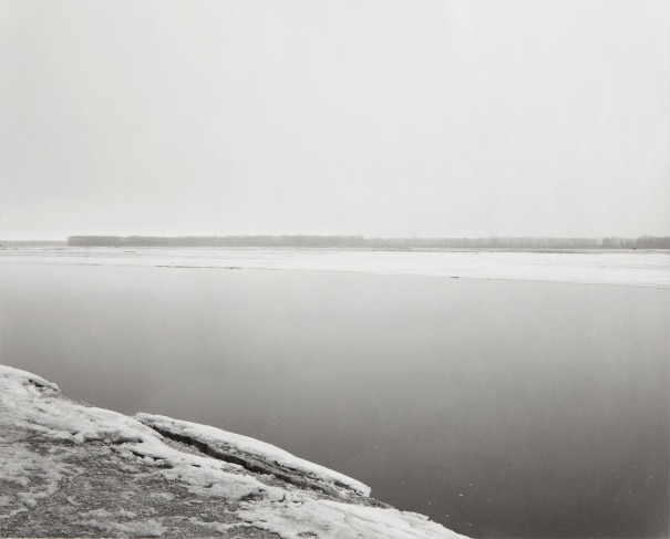 Robert Adams - Concrete and Ice, Missouri River, Clay County