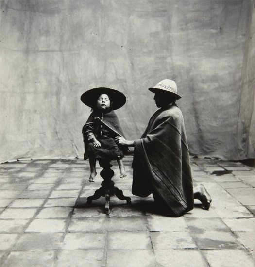 ca6e7266ae3132 Irving Penn - Father Kneeling with Seated Child (Cuzco, Peru), 1948 ...