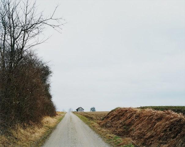 Feldweg mit Scheune bei Welsikon, Landschaft No. 28, Winterthur