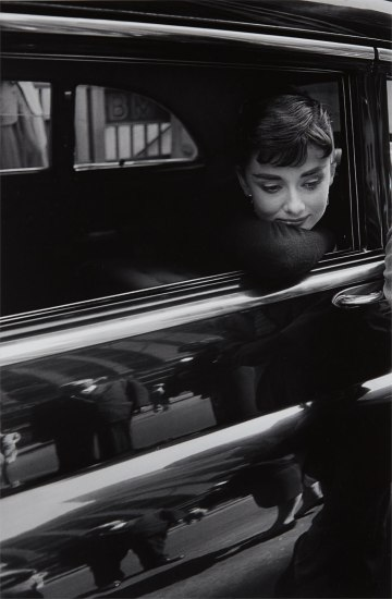 Audrey Hepburn during the filming of 'Sabrina' by Billy Wilder